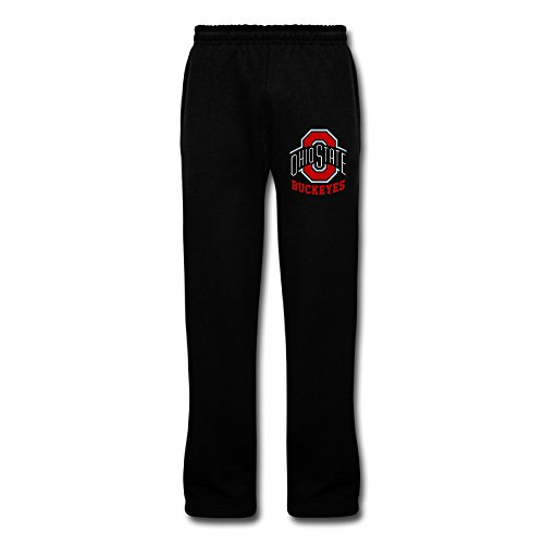 Men's OSU Ohio State Buckeyes Sweatpants Black XXL Pajama Pants ()