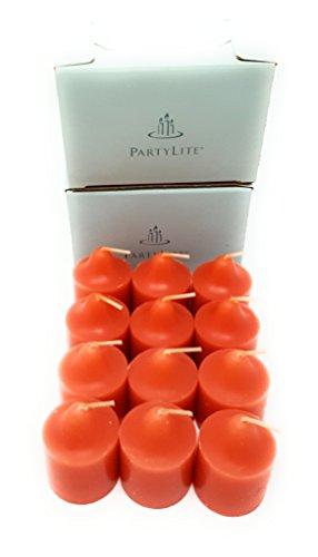 PartyLite Universal Scented Fruit Votives 1 Dozen (Guava & Papaya)