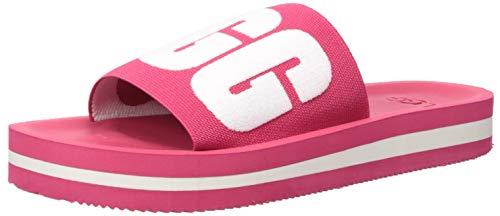 UGG Women's ZUMA Graphic Slide Sandal, Sweet Sangria, 8 M US
