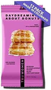 TRUWOMEN Plant Fueled Protein Bars Daydreaming About Donuts 12 Pack