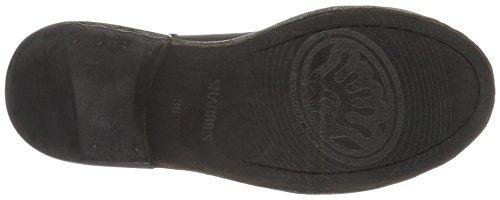 Shabbies Amsterdam Damen Shabbies 18cm Lace Up Boot Leather Sole Rash Kurzschaft Stiefel Schwarz (Black)