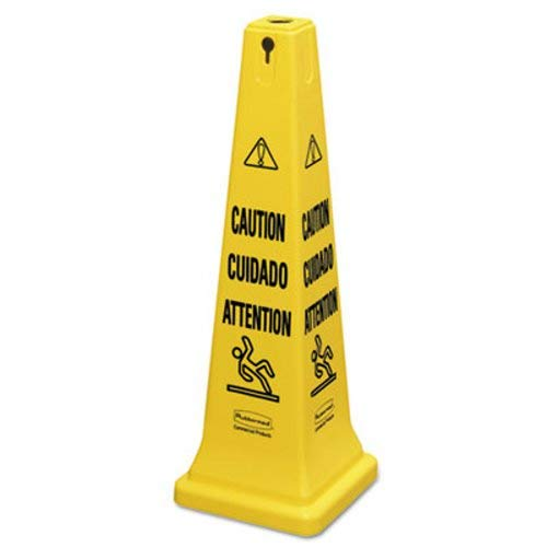 (Rubbermaid Commercial Multilingual Safety Cone,