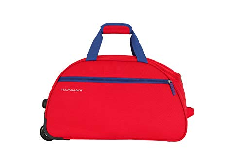 Kamiliant by American Tourister KAM Brio Polyester 62 cms Red Travel Duffle (KAM BRIO WHD 62cm – RED)