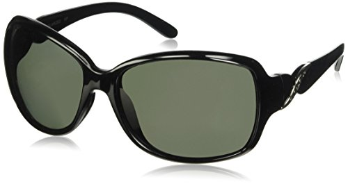 Suncloud Weave Polarized Sunglass with Polycarbonate Lens, Black Frame/Gray