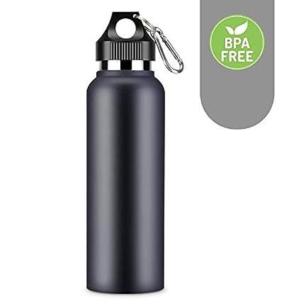 YANGLING Botella Agua Acero Inoxidable, 600ML Termo Cafe para Llevar Botella Termo Taza sin BPA Deportes Niños, Aislamiento de Vacío Frasco Portátil ...