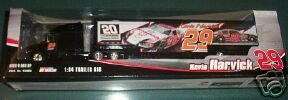Kevin Harvick #29 GM GW 20th Anniversary RCR Racing Theme Hauler Semi Transporter Trailer Truck 1/64 Scale Winners Circle With Image of GM GW 20th RCR Anniversary Theme Monte Carlo -
