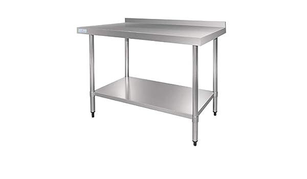 Vogue gj507 de mesa de acero inoxidable con alzatina, 1200 mm: Amazon.es: Industria, empresas y ciencia