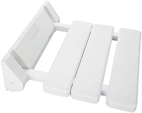 GOTOTO Klappsitz Duschwannensitz Duschwannensitz Duschwannensitz für Anziani aus ABS und Aluminiumlegierung, Belastbarkeit max. 130 kg, weiß