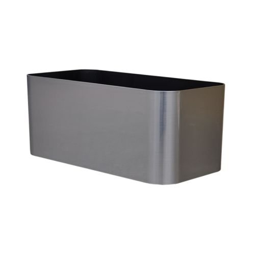 Mesa Planter - American Essence EP-AEMES-SS-30 30 x 7 x 7 in. Mesa Rectangle Planter44; Stainless Steel
