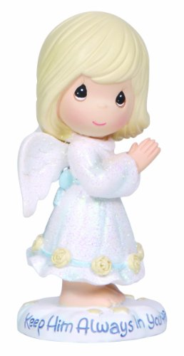 (Precious Moments, Keep Him Always In Your Heart, Resin Figurine, 124404)