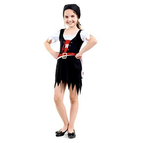Pirata Vestido Infantil Sulamericana Fantasias G 10/12 Anos