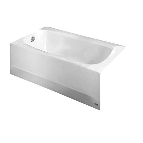 American Standard 2460.002.011 Cambridge Soaking Bathtub Left Hand Outlet, 5-Feet, - Tubs Iron Whirlpool Cast
