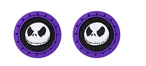 Disney NBC Bone Nightmare Before Christmas Jack Heavy Duty Rubber Auto Cup Holder Coaster 2pc]()