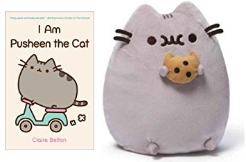 Gund Pusheen Cat With Cookie 9.5u0026quot; U0026 I Am Pusheen The Cat Book By Claire