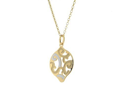 Fronay Co Estruscan White Almond Swirls Necklace in Sterling - Galleria Macys