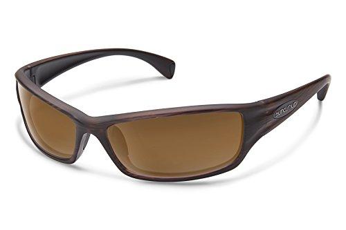 Suncloud Hook Sunglasses, Burnished Brown Frame/Brown Polycarbonate Lens, One - Sunglasses Size Frame