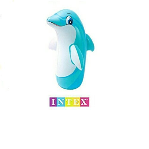 INTEX 3D Bop Bag Blow Up Inflatable (Dolphin Bag)