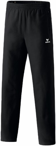 erima Kinder Trainingshose Mit Durchgehendem Reißverschluss, schwarz, 140, 110233