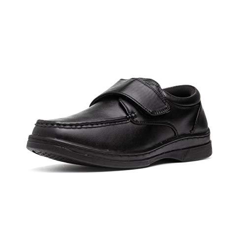 Hobos Mens Casual Easy Fasten Shoe in Black