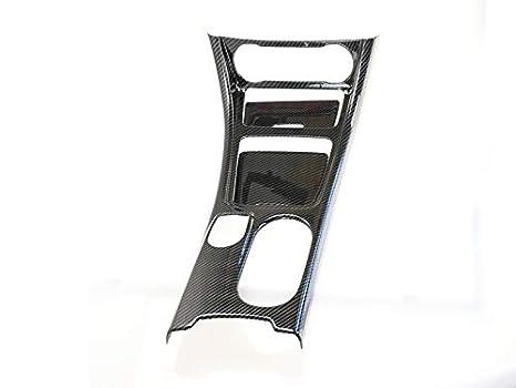 HDCF Adesivo per presa daria stile fibra di carbonio//Quadro strumenti Anello decorativo per presa daria adatto per la Classe GLA CLA AMG rosso