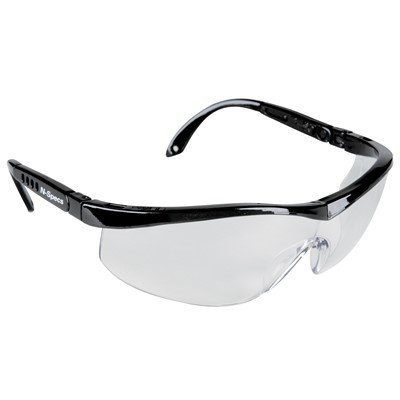 N-Specs Tour Rally LX Clear Lens Safety Glasses - Black (4 Pairs) - Specs Lightweight Comfortable Clear Lens