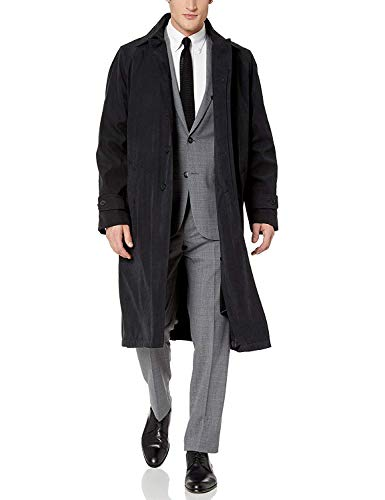 Adam Baker Men's Single Breasted & Double Breasted Full Length Belted Trench Coat All Year Round Raincoat