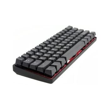 Mechanical Keyboard - KBC Poker 3 (Pok3r) - Black Case - PBT Keycaps - Cherry Mx-Clear [Metal Casing]