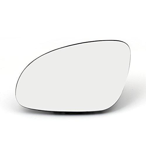 Areyourshop Door Mirror Left Glass Heated W/Holder For VW Golf GTI Jetta MK5 Passat B6