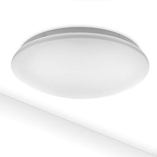 LED Plafondlamp Como 12W IP44 980lm | Neutraal wit 4000K | plafondverlichting rond badkamer gang trappenhuis WC 27cm…