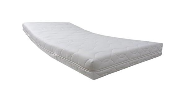 Dibapur ® Medicott - Colchón de espuma fría (9 zonas ortopédicas, núcleo de 15,5 cm, con funda de tejido doble: 16 cm, grado de dureza: 2,5, hasta 110 kg) ...