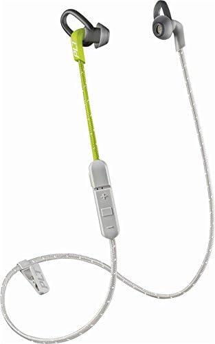 Plantronics BackBeat FIT 300 Sweatproof Sport Earbuds, Wireless Headphones, Grey Lime
