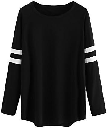 c7bf6e6e Milumia Women's Varsity Striped Sports Long Sleeve Baseball Tee Shirt Top