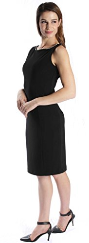 Joseph Ribkoff Black Open Back with Jewel Chain Accent Dress Style 171009 - Size 6 by Joseph Ribkoff (Image #4)
