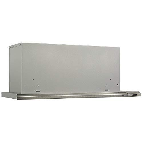 Broan 153004 Silhouette Slide-Out Range Hood Insert with Light, Exhaust Fan for Under Cabinet, Brushed Aluminum, 4.5 Sones, 300 CFM, 30