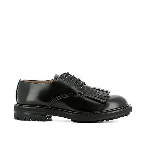 low-cost Alexander Mcqueen Men s 485209WHQS01000 Black Leather Lace-Up Shoes 9a7d048a0c8b7