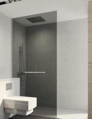Mampara de ducha fija One suelo techo con vidrio Securit 6 mm ...
