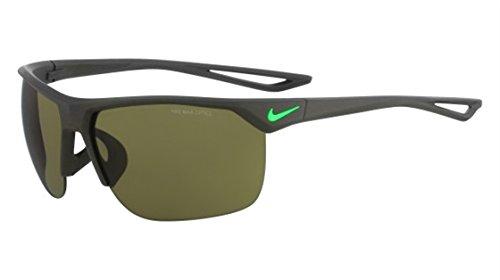 Nike Golf Trainer Sunglasses, Matte Cargo Khaki/Voltage Green Frame, Outdoor Tint - Running Nike Glasses