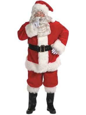 Face Suit Two Costume (Halco Holidays Men's Professional Santa Claus Suit Costume, Size)