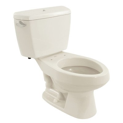 Carusoe 1.6 GPF Elongated 2 Piece Toilet with Bolt Down Lid and Insulated Tank Finish: Colonial White -