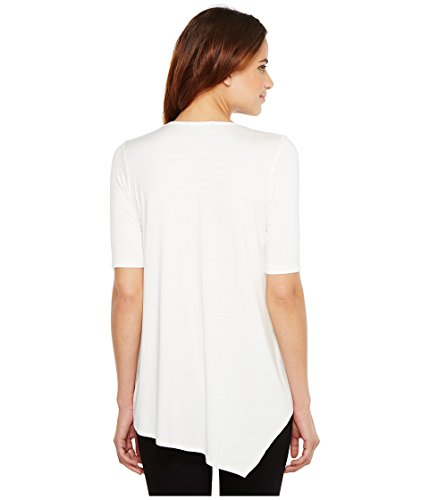 Karen Kane Women's Pencil Sleeve Drape Tee Off-White T-Shirt