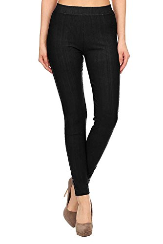 VIV Collection BEST SELLING Full Length Soft Cotton Blend Jeggings REGULAR and PLUS 315usH6SkdL