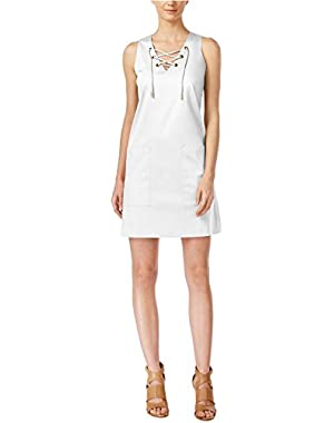 Calvin Klein Women's Sleeveless Lace-Up Sheath Dress