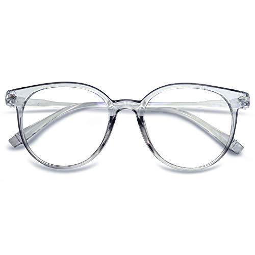 KOOSUFA Blaulichtfilter Brillen Anti Blaulicht Brillen Ohne Sehstärke Damen Herren Computer Gaming Brillen Anti Müdigkeit Leicht Retro Brillengestelle mit Etui