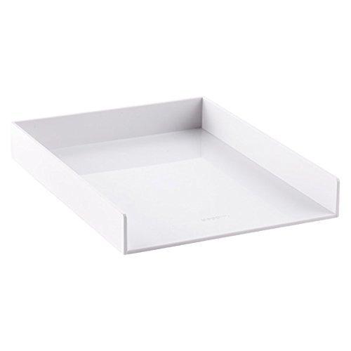 Poppin Single Letter Tray, White 100222