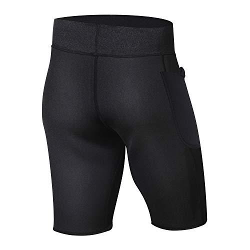 734db4101f Junlan Men Slim Pants Body Shaper Sweat Sauna Head Fat Burning Capris  Leggings Neoprene Shorts for