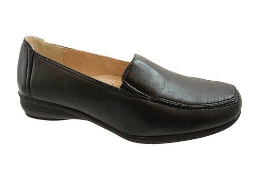 D - Zapatos de vestir de cuero para mujer negro - negro