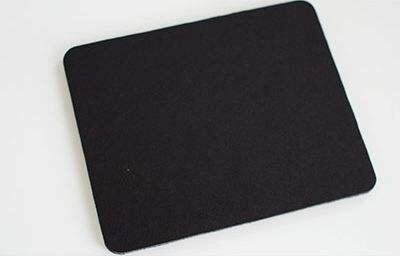 DAMI Mouse Pad with Waterproof Coating, Non Slip & Elegant Stitched Edges Black