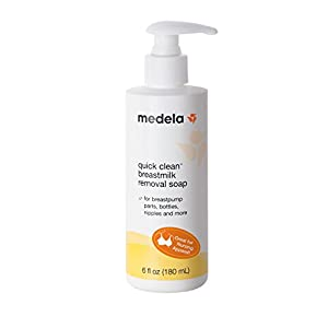 Medela Quick Clean Breast Milk Removal Soap, No Scrub Hypoallergenic Soap for Pump Parts and Nursing Apparel, Removes…