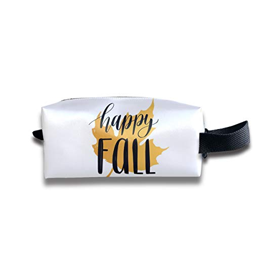 Small Toiletry Bag Happy Fall,Pencil Case,Travel Essentials Bag,Dopp Kit Bag For Men And Women With Handle