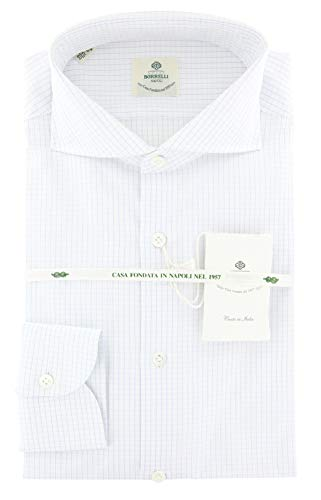 Luigi Borrelli New Light Blue Check Extra Slim Shirt